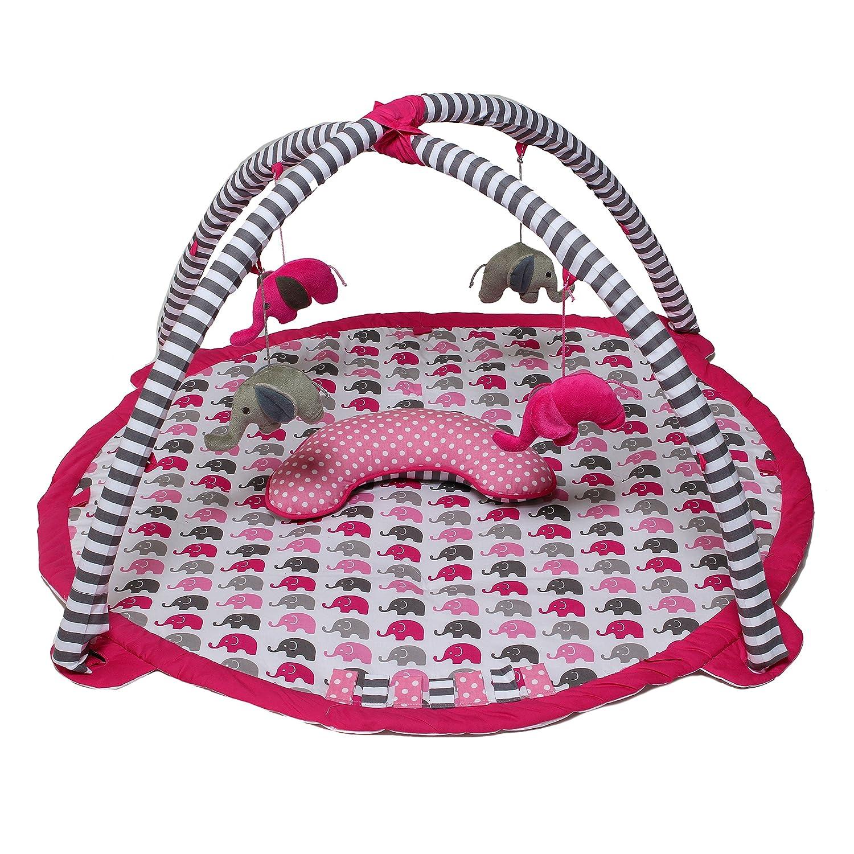 Bacati - Activity Gyms & Playmats (Elephants Pink/Grey)