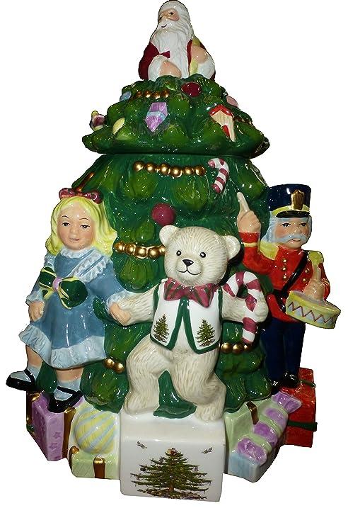 Charming Spode Christmas Tree U0026quot;Toys Around The Treeu0026quot; Cookie Jar ...