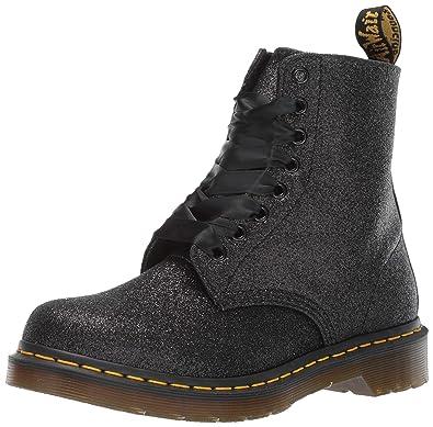 67ca08406d75 Dr. Martens Women's 1460 Pascal Glitter Fashion Boot, Black, 5 Medium UK (