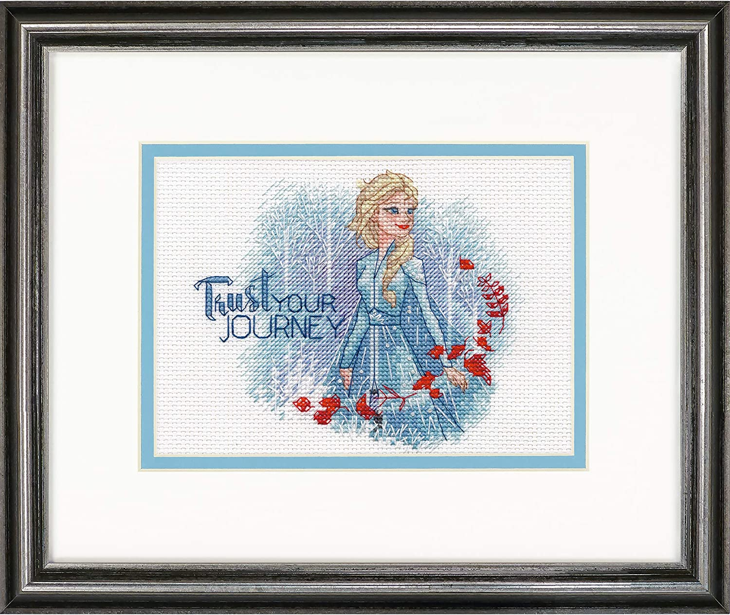 Dimensions 70-65198 Disneys Frozen II Trust Your Journey Counted Cross Stitch Kit 14 White Aida 7 x 5