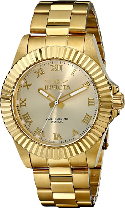 Invicta Men 16739 Pro Diver Analog Display Swiss Quartz Gold Watch