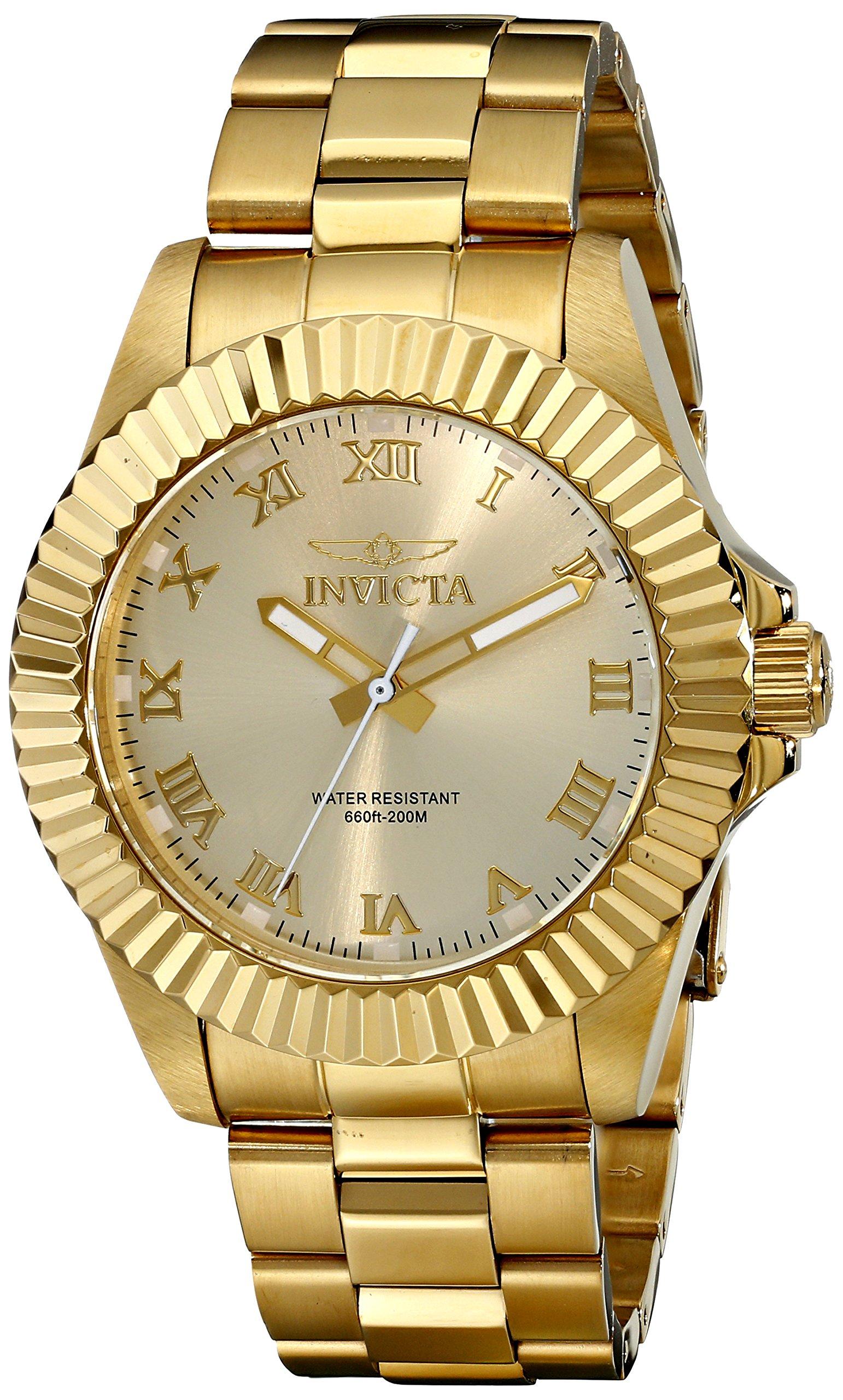 Invicta Men's 16739 Pro Diver Analog Display Swiss Quartz Gold Watch by Invicta