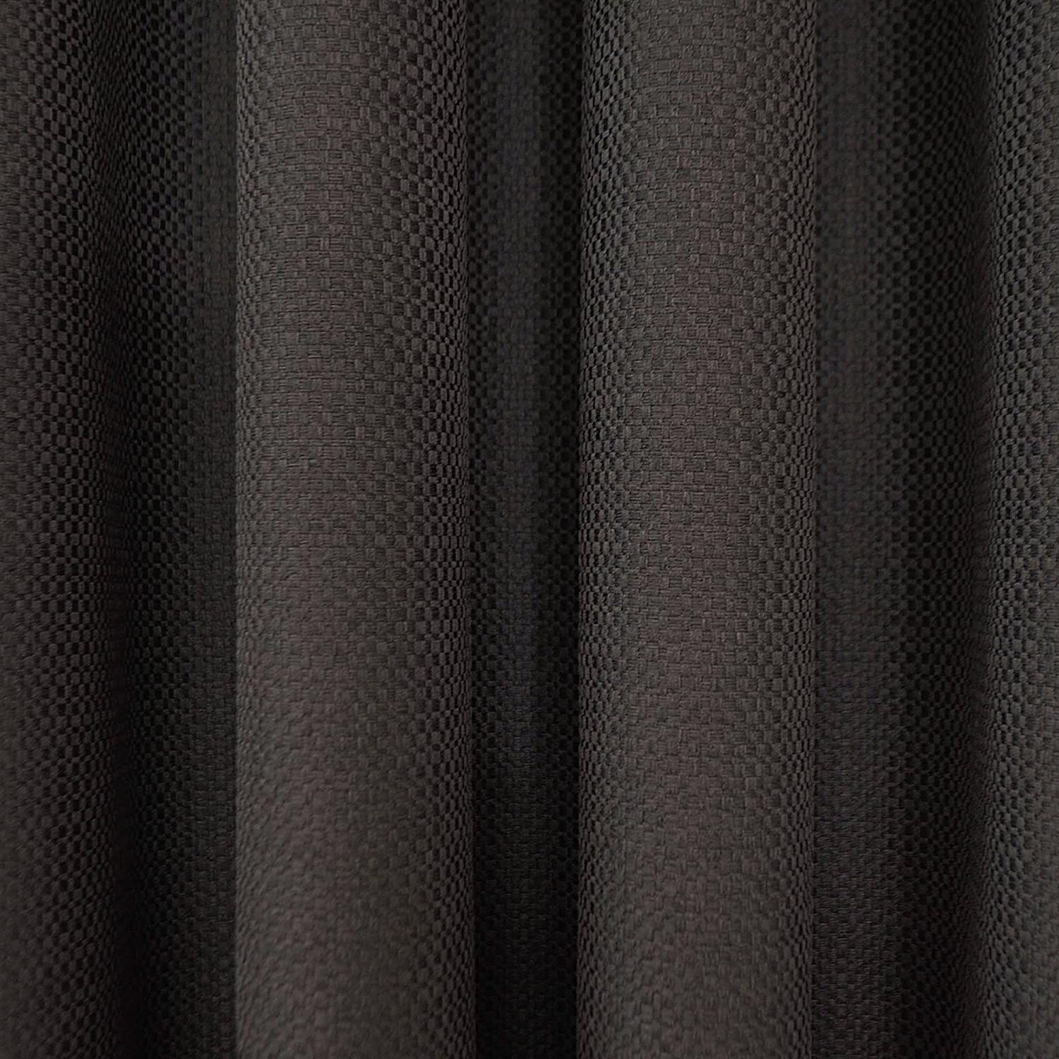 Amazon.com: Eclipse 12968052063CHR Wyndham 52-Inch by 63-Inch ... for Black Curtains Texture  113lpg