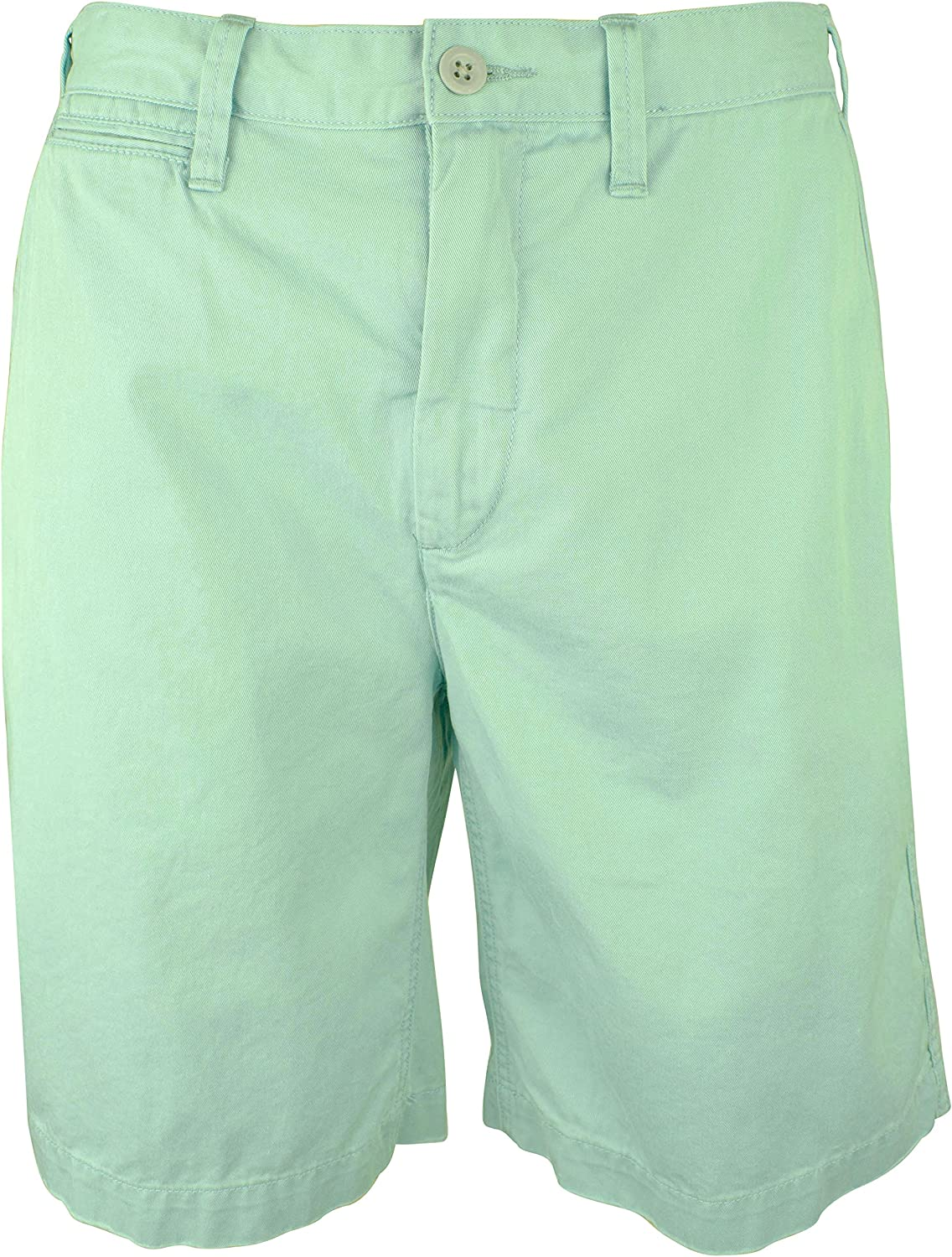 """Ralph Lauren Polo Men's Relaxed Fit Cotton Twill 10"""" Chino Flat Front Shorts"""