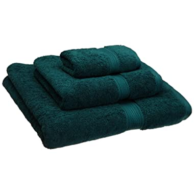 Superior 900 GSM Luxury Bathroom 3-Piece Towel Set, Made Long-Staple Combed Cotton, Hotel & Spa Quality Washcloth, Hand Towel, and Bath Towel - Teal