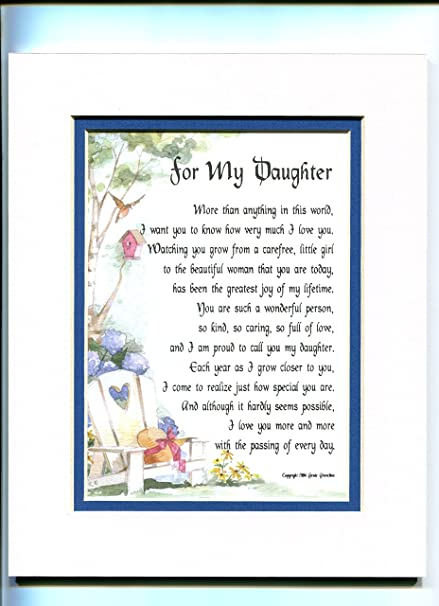 Amazon Present Gift Poem For An Older Daughter 47a 18th