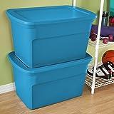 Sterilite 17364306 30 Gallon/114 Liter Tote, Blue