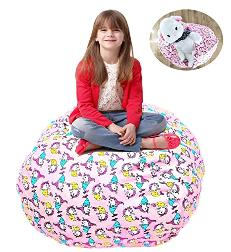 Sensational Shinny Shony Stuffed Animal Storage Bean Bag 38 Cover Only Large Triangle Beanbag Chair For Kids 90 Plush Toys Holder Quality Ykk Zipper Unemploymentrelief Wooden Chair Designs For Living Room Unemploymentrelieforg