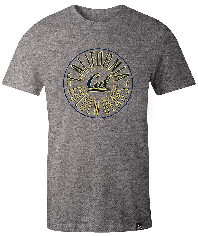 XX-Large,HeatherGrey NCAA California Golden Bears Adult NCAA Circles Image One Everyday Short sleeve T-Shirt