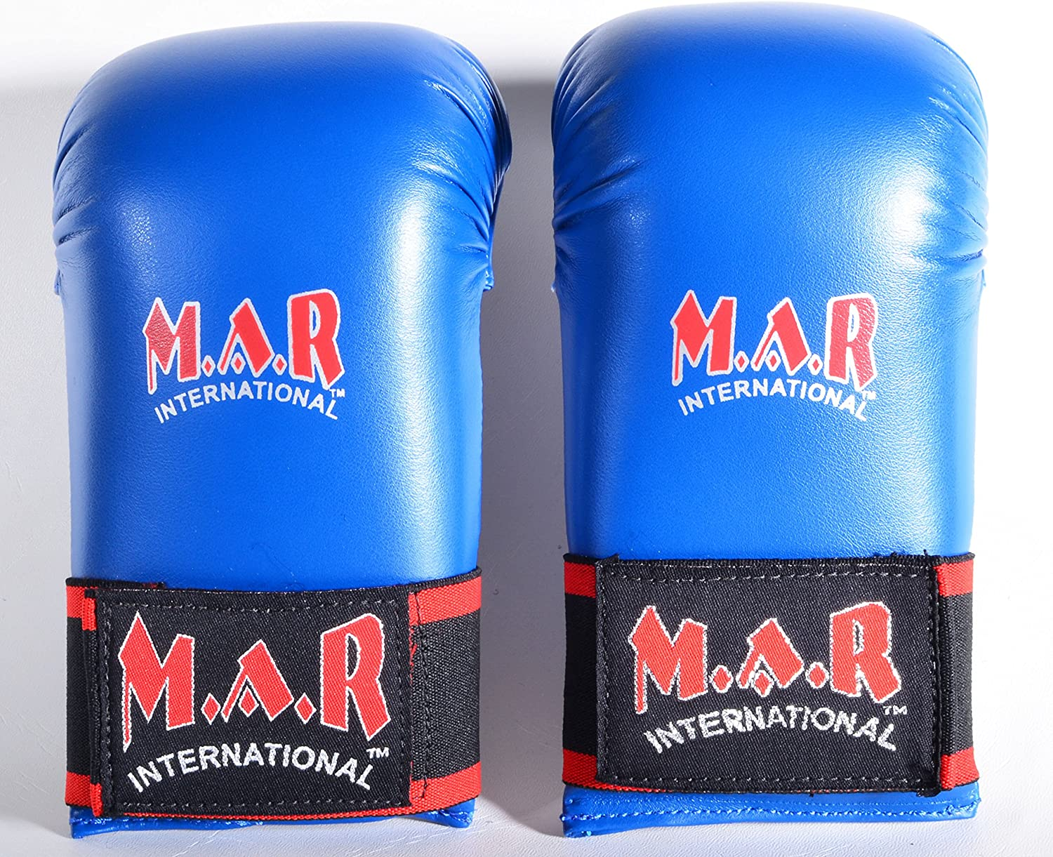 Elasticated Grip Finger Loops /& Stripe Karate Punching Mitts//Gloves with Moulded Foam Padding Rex Leather M.A.R International Ltd