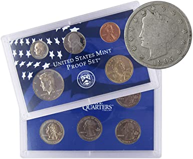 2001 S State QUARTER Proof Statehood set of 5 QTRS ONLY from United States Mint.