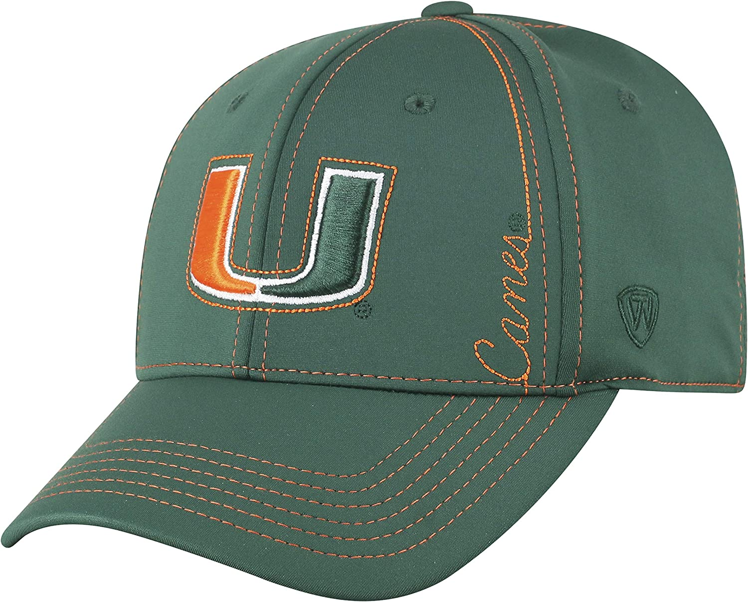 Top of the World Miami Hurricanes Official NCAA One Fit Learning Curve Hat Cap 450513