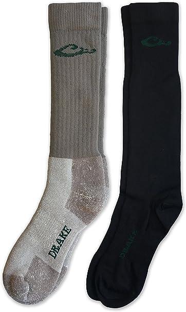 Drake Men/'s 40/% Merino Wool Thermal Insulated Full Cushion Winter Boot Socks 2 Pair