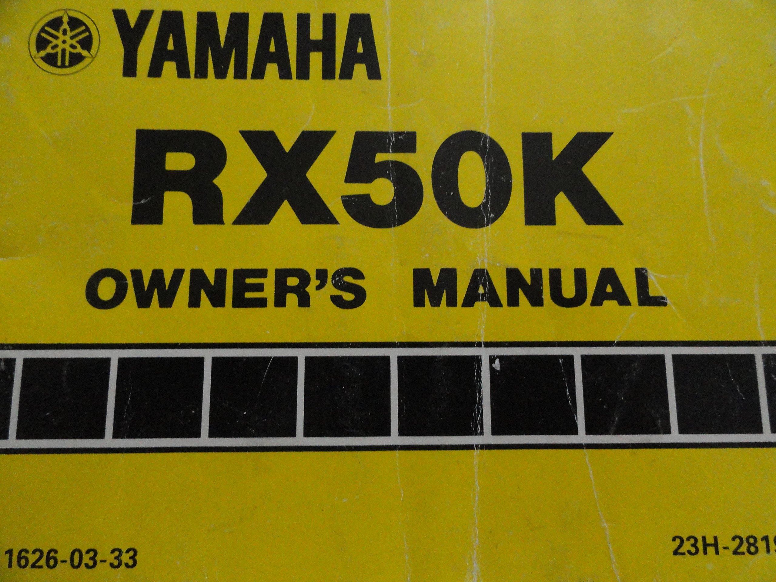 1982 1983 yamaha rx50k owners manual rx 50 k yamaha amazon com books rh amazon com Yamaha RX50 Craigslist Yamaha RX50 Craigslist