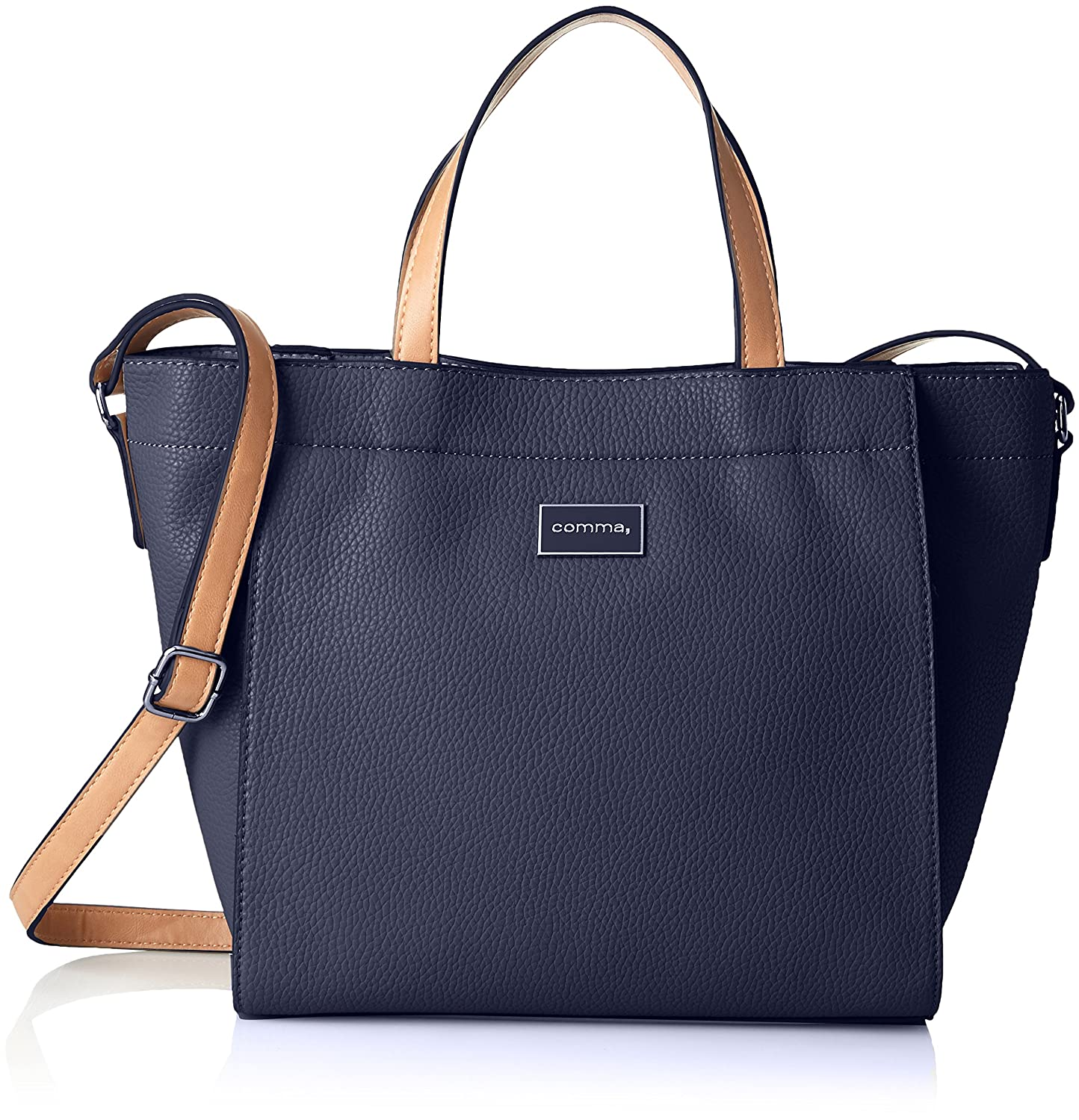 comma Damen Beautiful Smile Handbag Lhz Handgelenkstasche, 14x27x38 cm Blau (Dark Blue) 4180000009