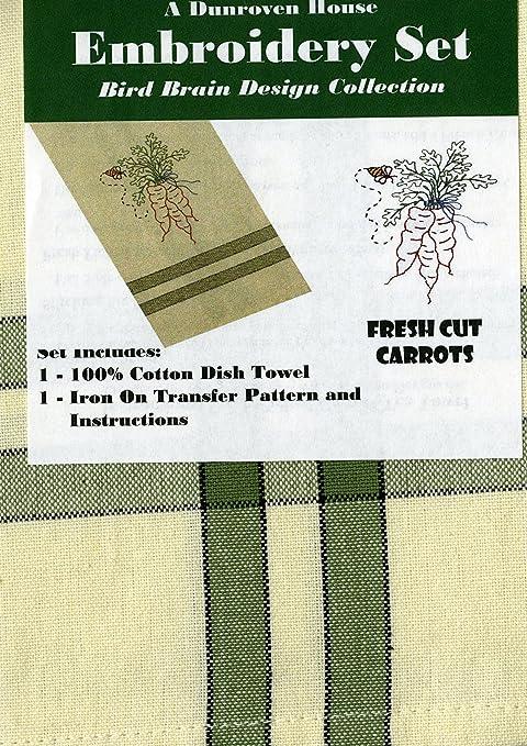 dunroven Casa algodón Fresh Cut Zanahorias Pájaro Brain diseño de la ...