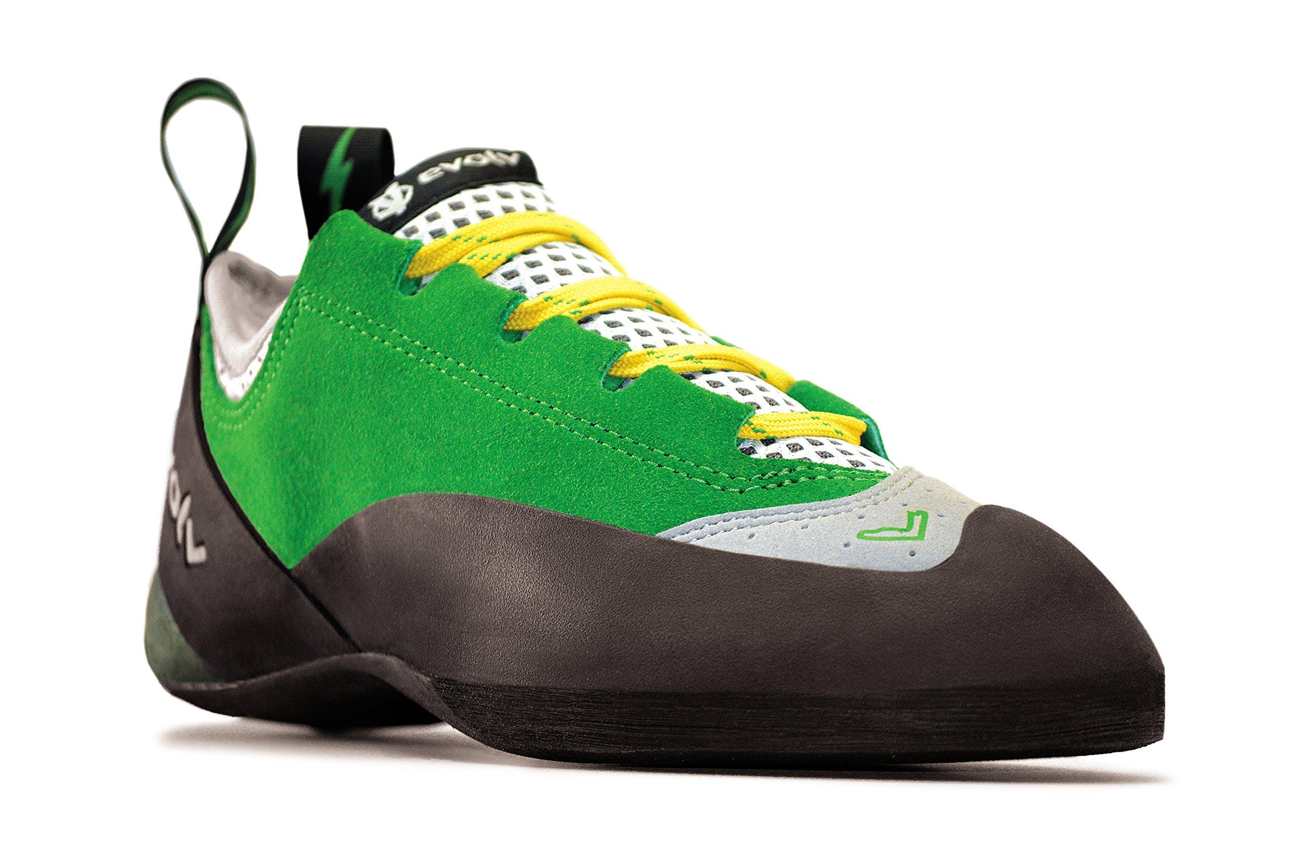 Evolv Spark Climbing Shoe - Men's Green/Gray 9.5