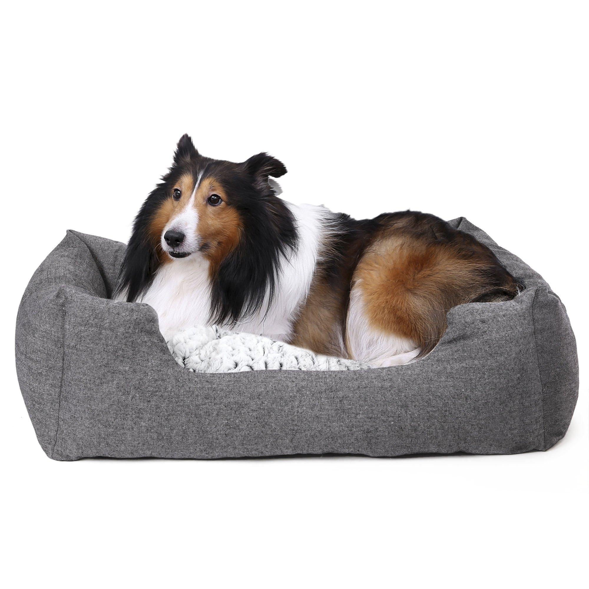 SONGMICS Panier pour Chien Lit M 80 x 60 x 26 cm Dog Bed Coussin Matelas Animaux PGW26G product image