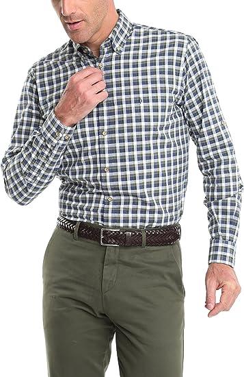 Caramelo, Camisa Semivestir Button Down Con Tira Para Arremangar, Hombre · Caqui Medio, talla XXL: Amazon.es: Ropa y accesorios