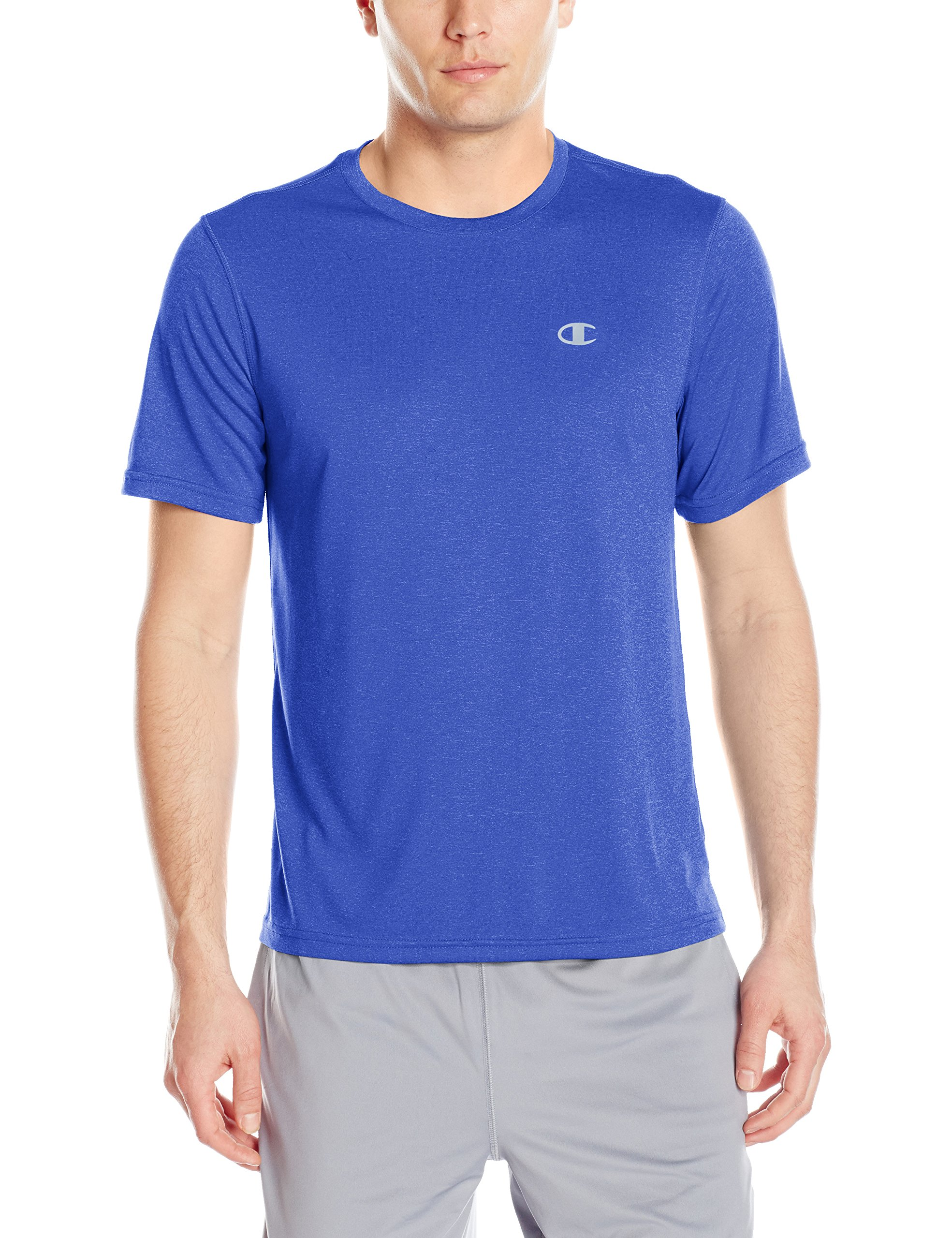 Champion Men's Double Dry Tee, Surf the Web Heather, X-Large by Champion