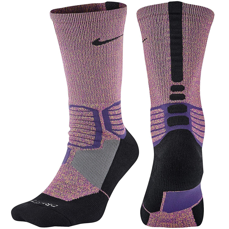 Nike Elite Mens Cushioned Crew Sock Dri-Fit Basketball