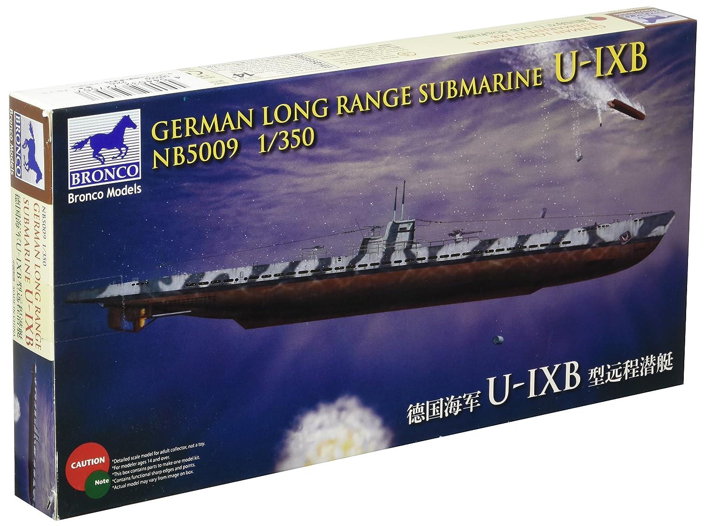 ブロンコモデル 1/350 ドイツ Uボート IX 9 B型潜水艦 遠洋型 プラモデル CB5009 B01ALJ5HUM