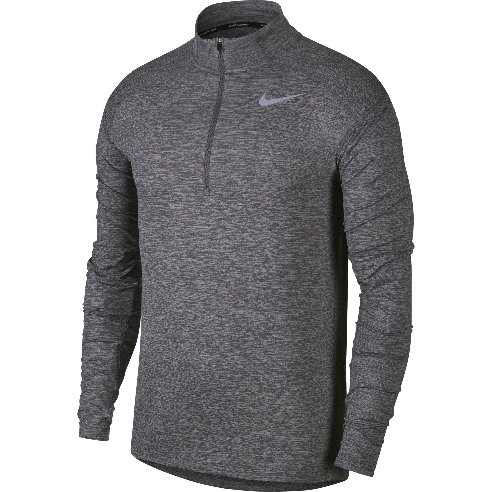 Nike Men's Dry Element Running Top Gunsmoke/Atmosphere Grey/Heather Size Medium