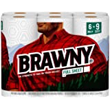 Brawny Paper Towels, 6 Large Rolls, Full Sheet (Packaging may Vary)