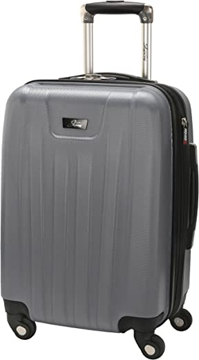 Skyway Nimbus 2.0 20-Inch 4 Wheel Expandable Carry-On, Silver