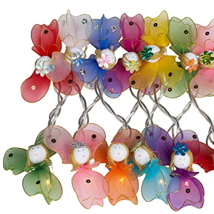 low priced e2f07 8ab86 CHAINUPON Angels Fancy String Fairy Lights Kid Bedroom Children Decor Plug  in Mains powered (20 Lights, Multi-colored)