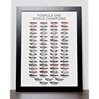 Formula One World Champions Poster (Updated for 2018 Lewis Hamilton)