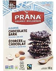 PRANA Algarve Almonds & Sea Salt Dark Chocolate Bark, 100g