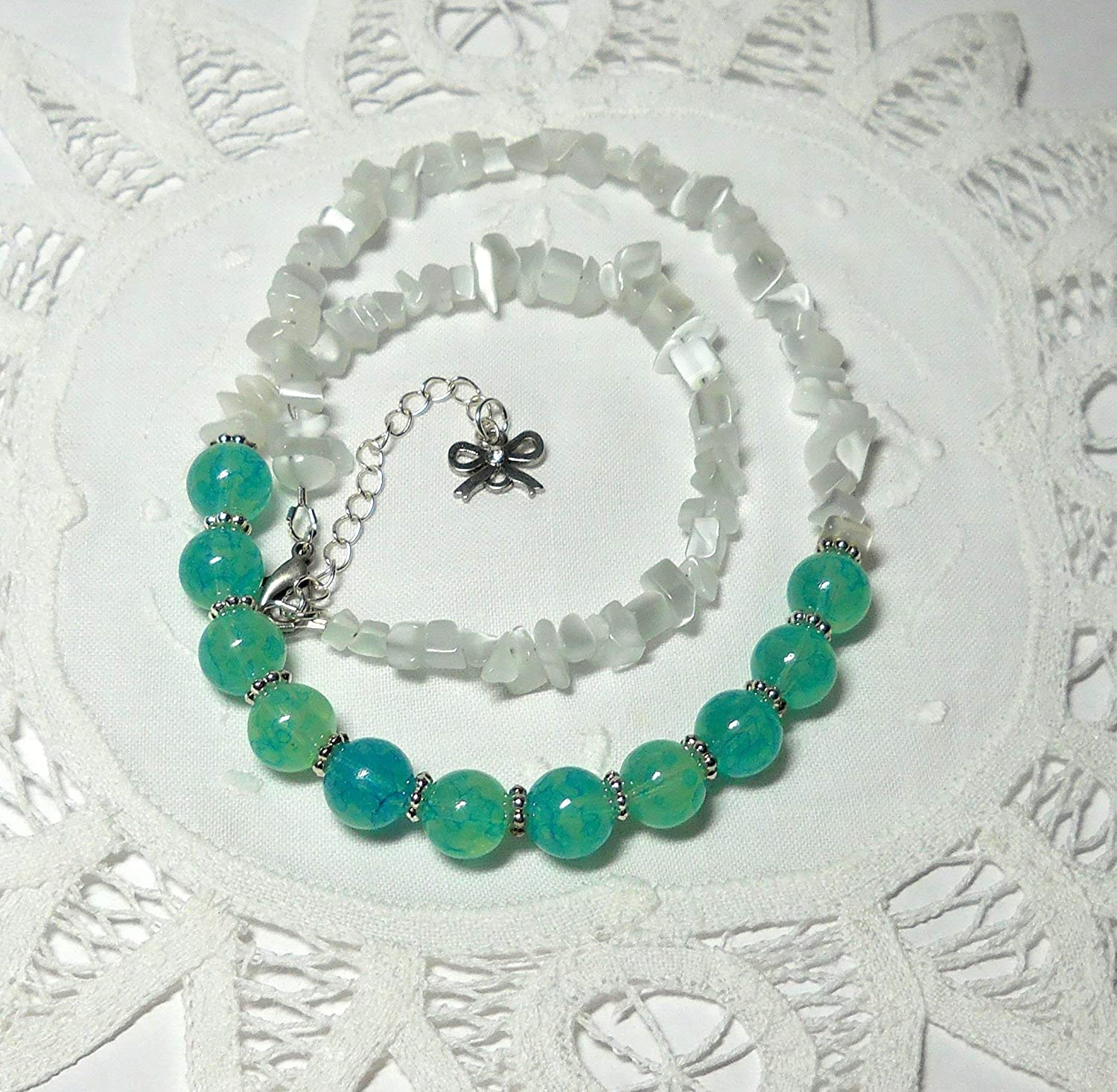 Handmade beaded necklace for her