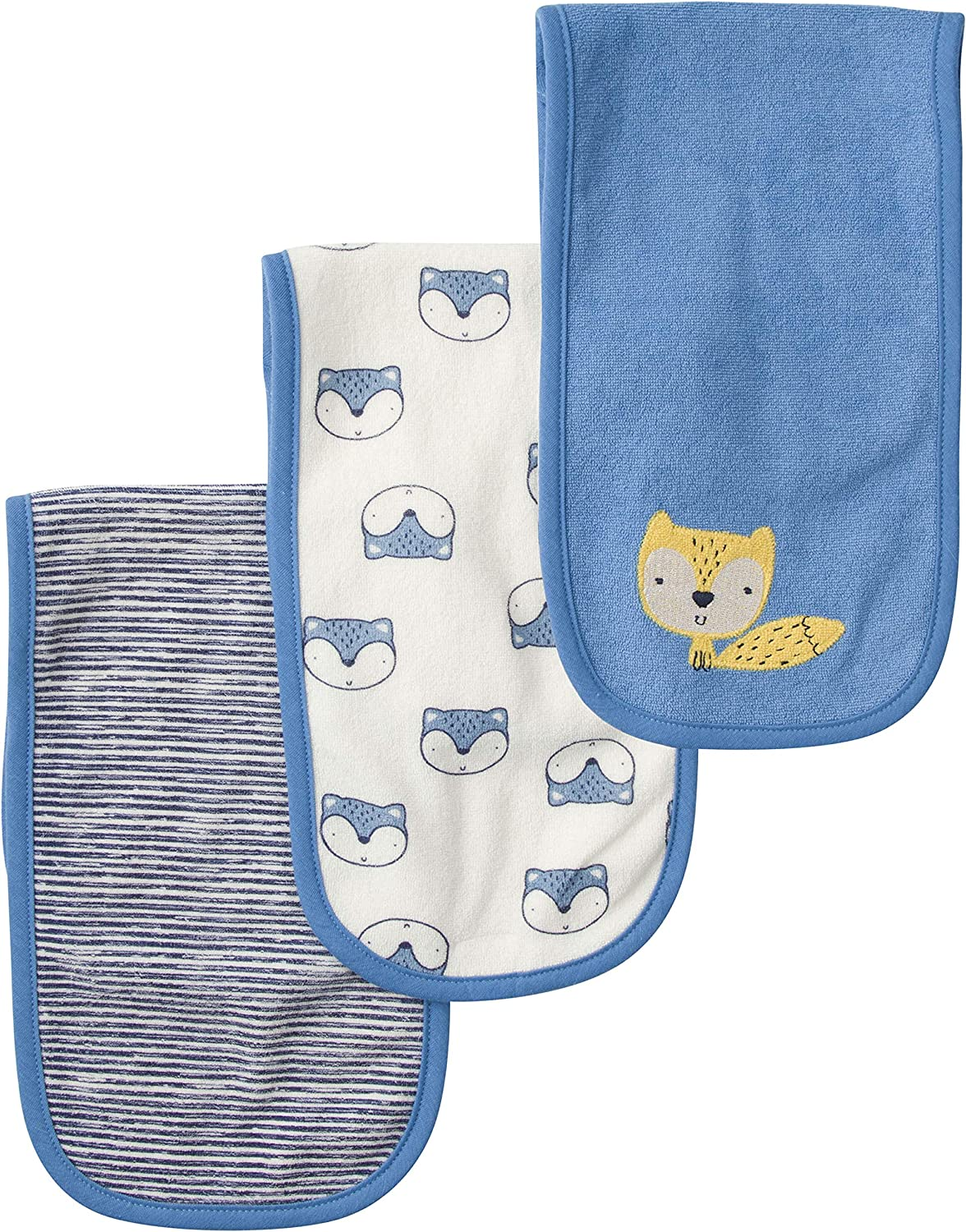 Starry Dreams Gerber Baby 3 Pack Knit Burp Cloth One Size