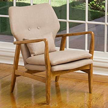 Ventura Mid Century Modern Bentwood Upholstered Accent Chair