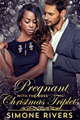 Pregnant with the Boss' Christmas Triplets (Frost Billionaire Brothers BWWM Holiday Romance) Kindle Edition