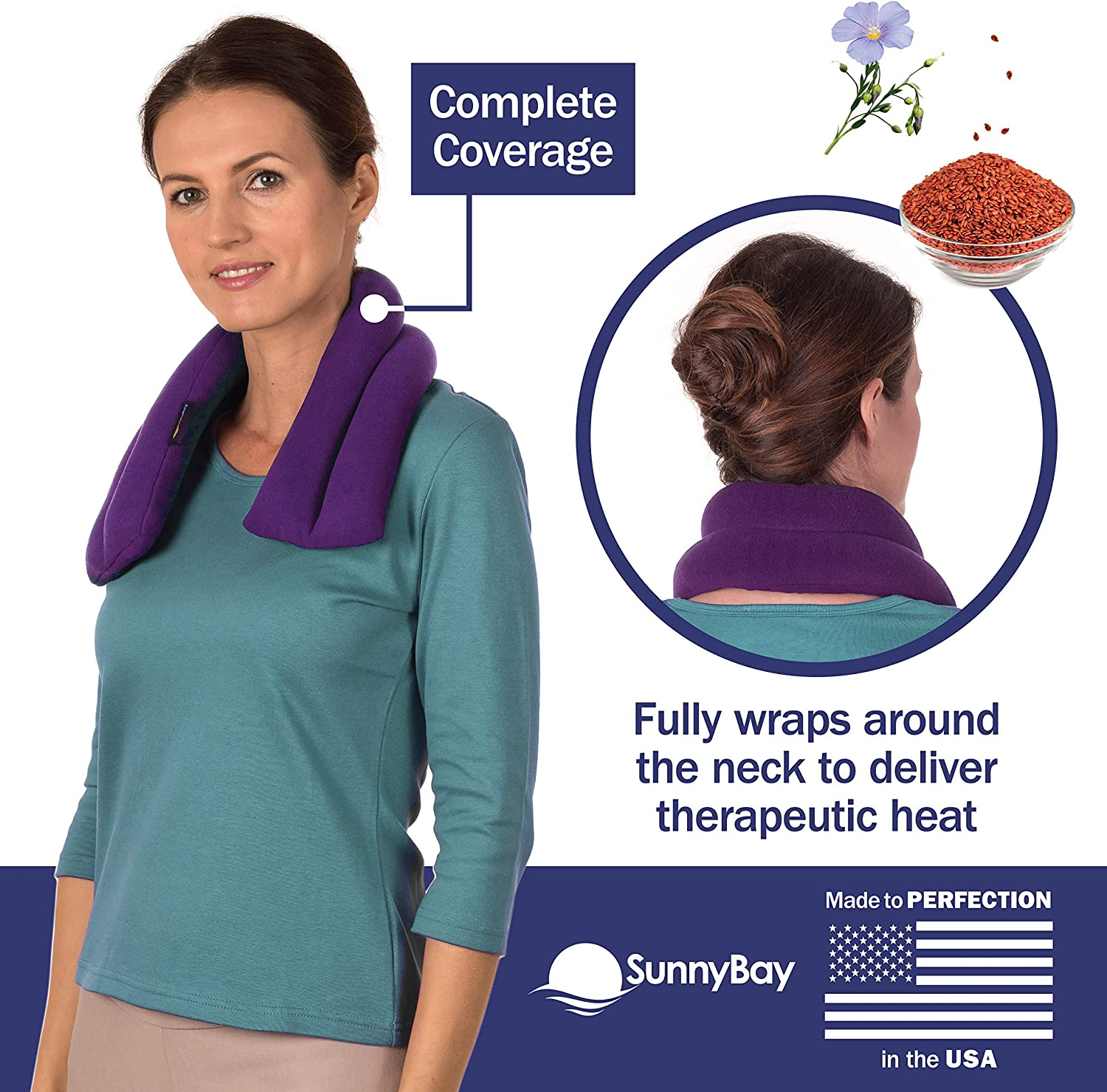 Microwave Heating Pad for Neck & Shoulders - Cotton & Fleece Hot Packs for Pain - Bean Bag Heating Pad Microwavable - Hot Compresses for The Body Therapy