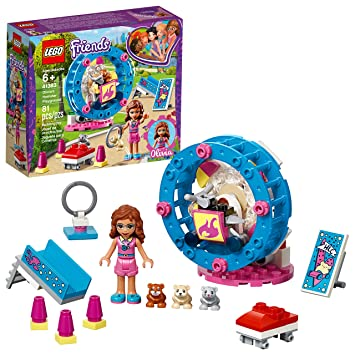81 Piece LEGO Friends Olivia/'s Hamster Playground 41383 Building Kit