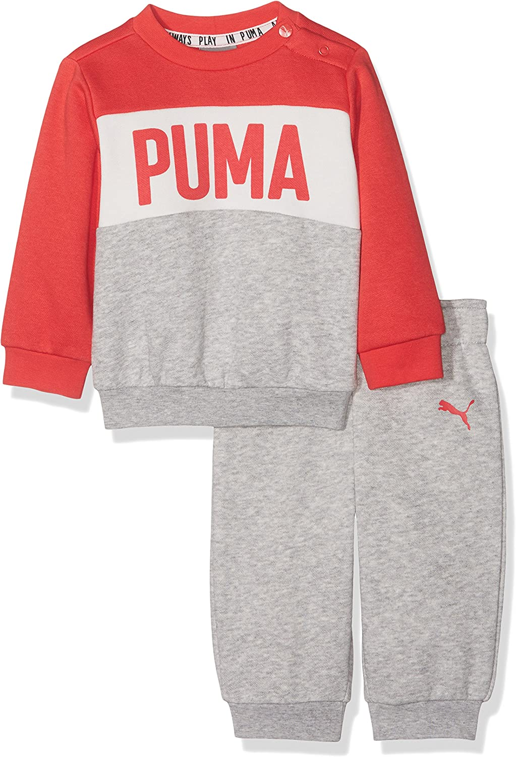 Puma - Minicats crew - chándal - light gray heather: Amazon.es ...