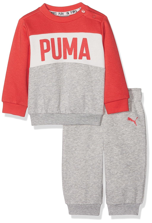 Puma - Minicats crew - chándal - light gray heather: Amazon.es ...