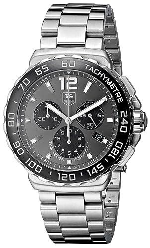 TAG Heuer CAU1115.BA0858 Formula 1 - Reloj cronógrafo de cuarzo: Amazon.es: Relojes
