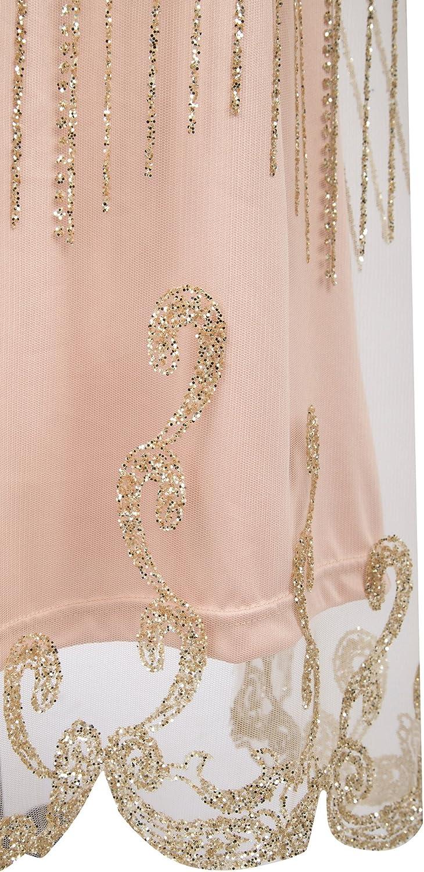 Angel-fashions Womens Strapless Floral Paillette Column Banquet Wedding Dress