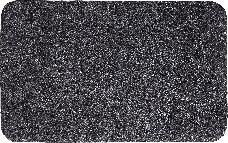 40x60 cm Anthracite Lavable /à 30//°C andiamo 700607 Paillasson Samson uni 50 x 80/cm en Coton Coton