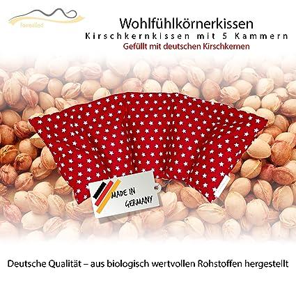 Cojín de huesos de cereza / Almohada relajante para el tratamiento térmico – Almohada para calentar en microondas (Resistente al calor) // 5 ...