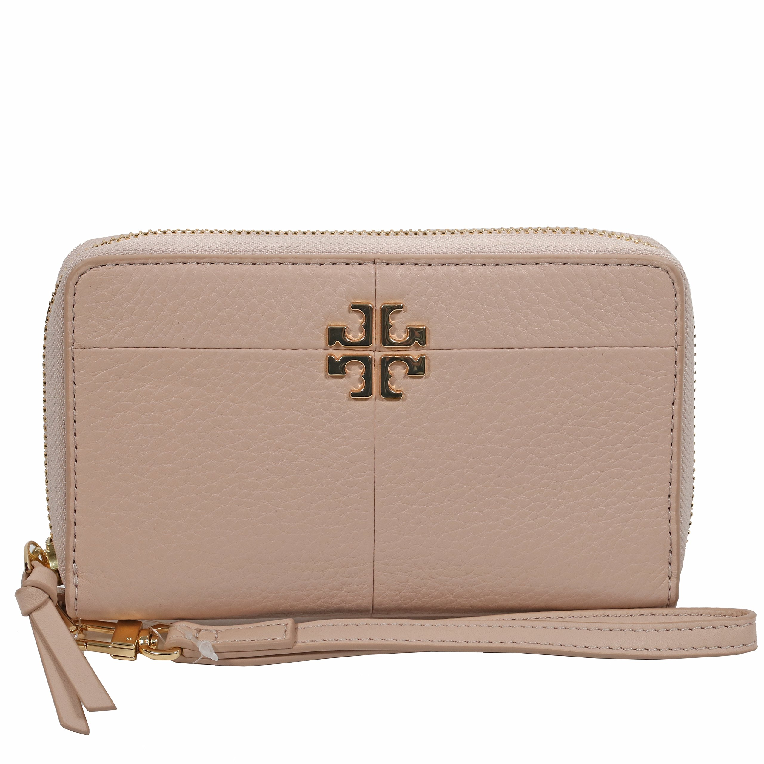 Tory Burch Wallet Wristlet Ivy Smartphone (Light OAK)