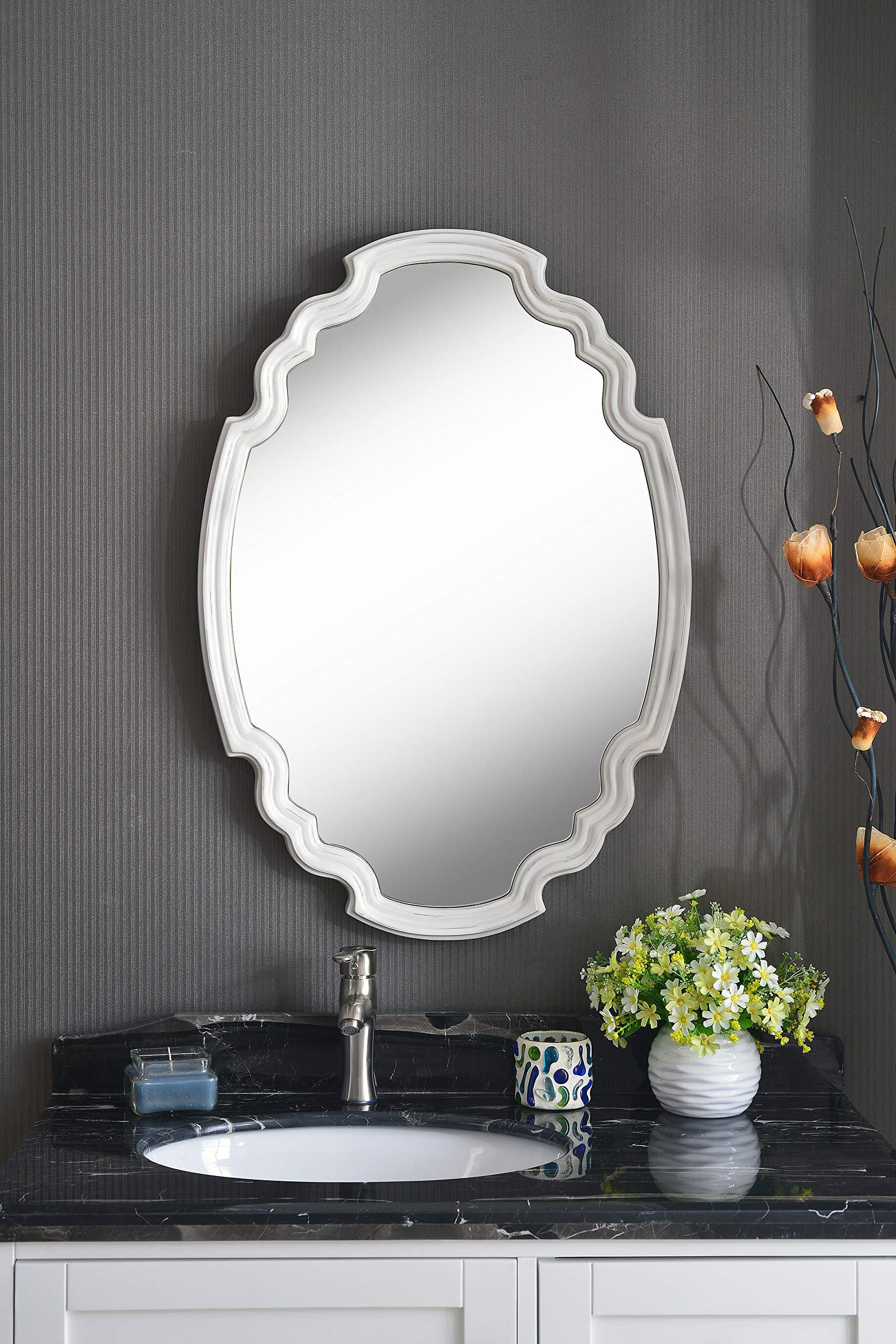 Kenroy Home Backstage Wall Mirror, White by Kenroy Home