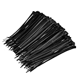 Amazon Basics Multi-Purpose Cable Ties - 8-Inch/200mm, 1000-Piece, Black