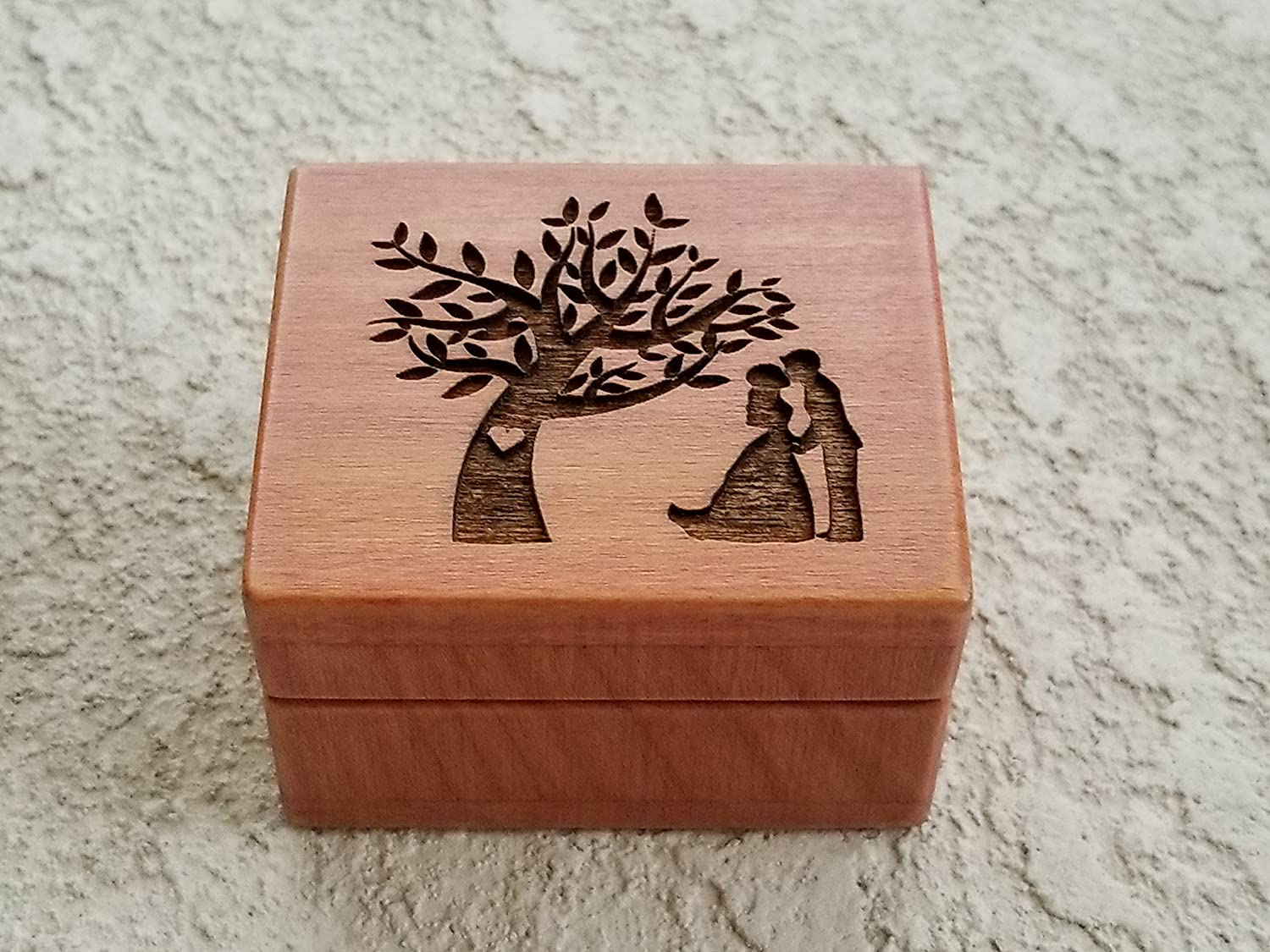 Custom engraved wooden ring box, wedding ring box, Will you marry me?, ring pillow alternative, handmade by Simplycoolgifts
