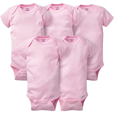 3f8a37b10394 Amazon.com  Gerber Baby Girls  5 Pack Variety Bodysuits  Clothing