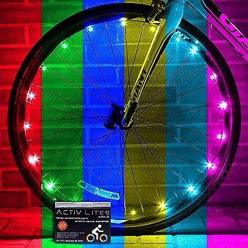 Activ Life Luces LED para Ruedas de Bicicletas Baterías Incluidas ...